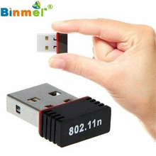 Levert Dropship Good Sell Wireless 150Mbps USB WiFi Adapter 802.11n 150M Network Lan Card May11