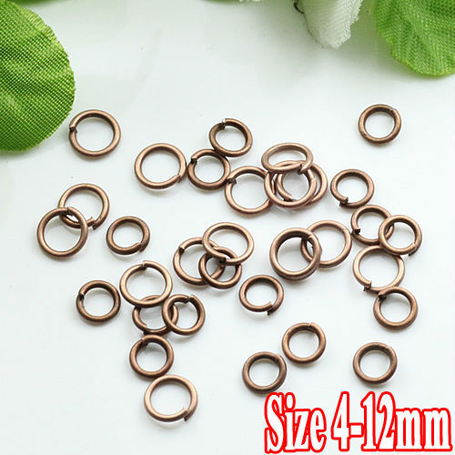 500G/PIECE Wholesale Antique IRON Based 4/5/6/8/10/12mm Opening Split Ring Accessories for Jewelry Making