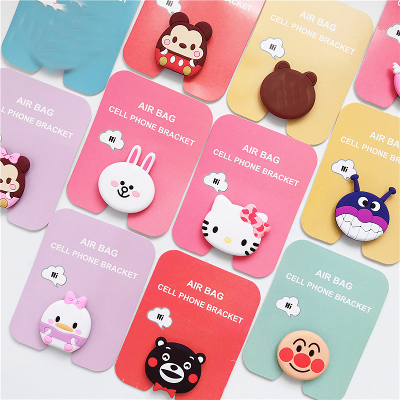 Universal Phone Stand bracket Expanding Stand stretch grip phone Holder socket Finger Cute Cartoon Stand for iphone 66S 7 8 X XS in Phone Holders Stands from Cellphones Telecommunications