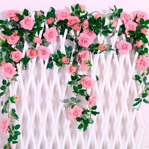 Image 4 - FENGRISE 80cm 1pcs Artificial Flowers Vine Ivy Leaf Fake Plant Artificial Plants Green Garland Home Wedding Party Decoration