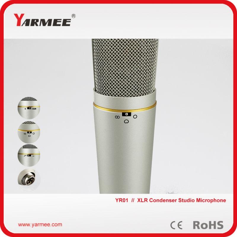 Best quality Yarmee multi functional condenser studio recording microphone XLR mic YR01 best quality yarmee multi functional condenser studio recording microphone xlr mic yr01