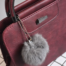 1pcs Women Leather Shoulder Bag Venonat Hanging Decor Crossbody Messenger Handbag OH66