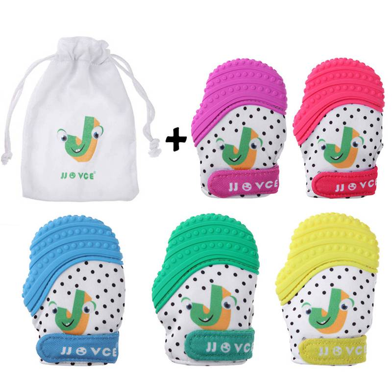 1pc Silicone Newborn Baby Pacifier Gloves Infant Chewable  Mitt Thumb Sound Teething Mitten Toddler Nursing Glove Wrapper Sound