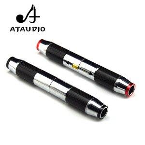4 шт. ATAUDIO Hifi Разъем XLR из углеродного волокна Hi-end Позолоченные мужские и женские разъемы XLR