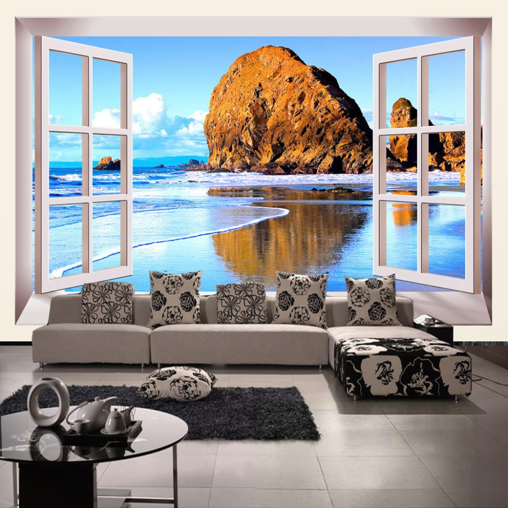 Delightful Beach Wall Murals Cheap Great Pictures Part 90