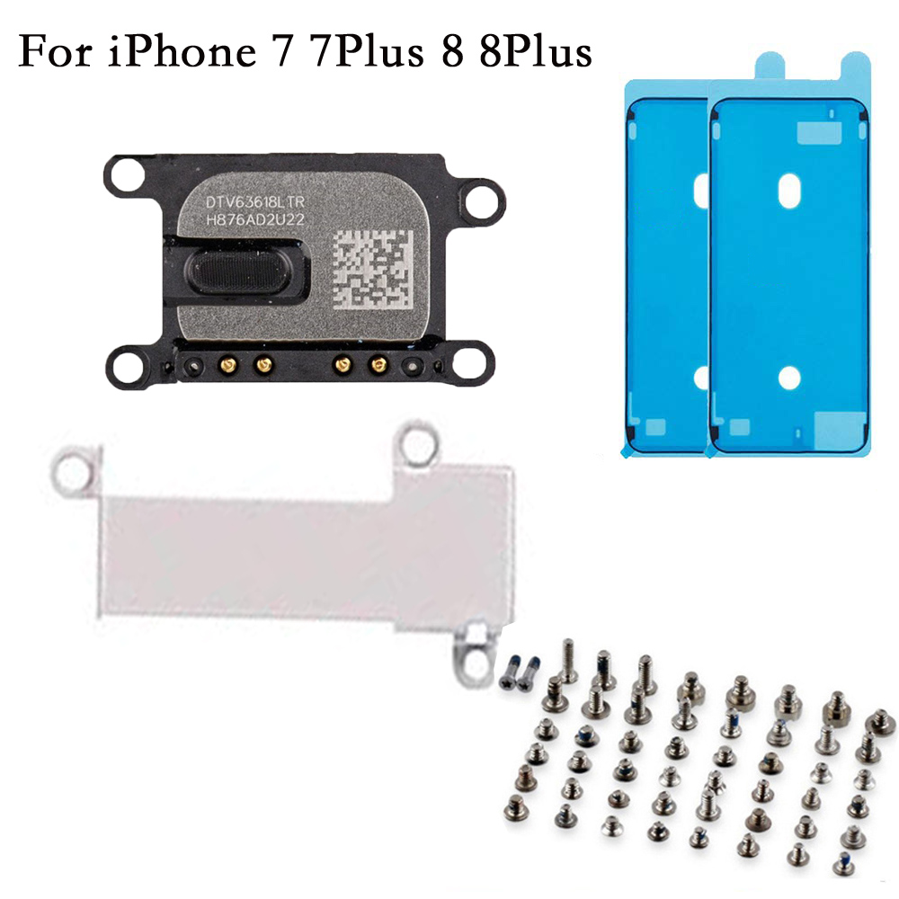 4pcs/set Earpiece Ear Speaker For IPhone 7 7plus 8 8 Plus With Earpiece Metal Bracket And Screen Adhesive With Full Set Screws