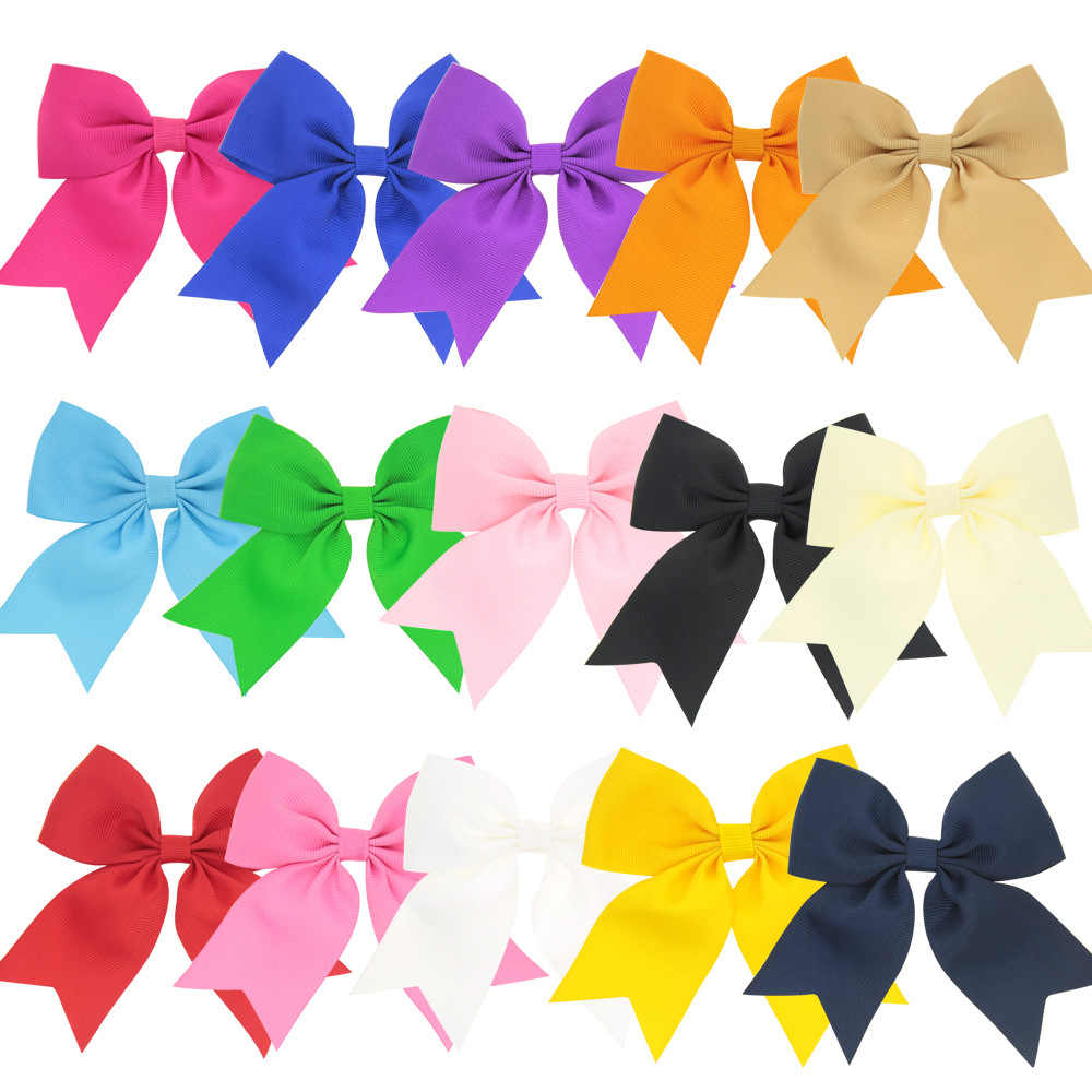 1PCS Colorful 9CM Lucky Clover Handmade Creative Design Hair Bow Best Party Dress Up Hairpin for Kids Girls DIY Clip Headwear