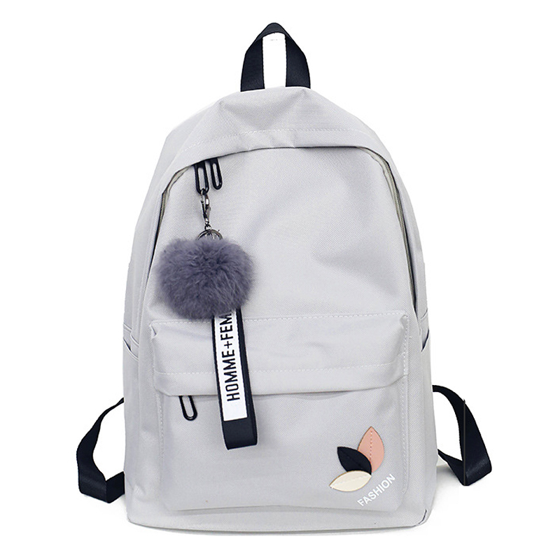 2018 Solid backpack girl school bags for teenage College wind Women SchoolBag High student bag black nylon printing ремень calvin klein z8348634p 32mm ck