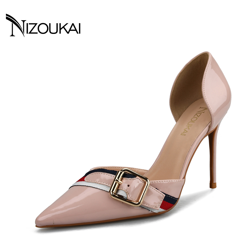 womens shoes high heel woman pumps Spring/Autumn Basic Silk Slip-On Pointed Toe Thin Heels Sexy Wedding shoes ljx04-q siketu 2017 free shipping spring and autumn women shoes fashion sex high heels shoes red wedding shoes pumps g107