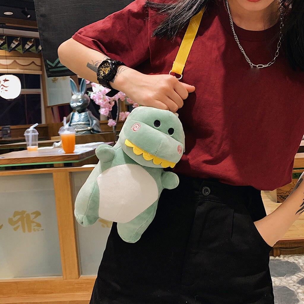 Женская сумка мессенджер с милым динозавром из мультфильма мини сумки на плече