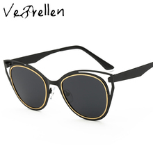 VeBrellen 2017 Fashion New Style Women Cat Eye Sunglasses Summer gafas de sol Polarized Sun Glasses For Men VJ114