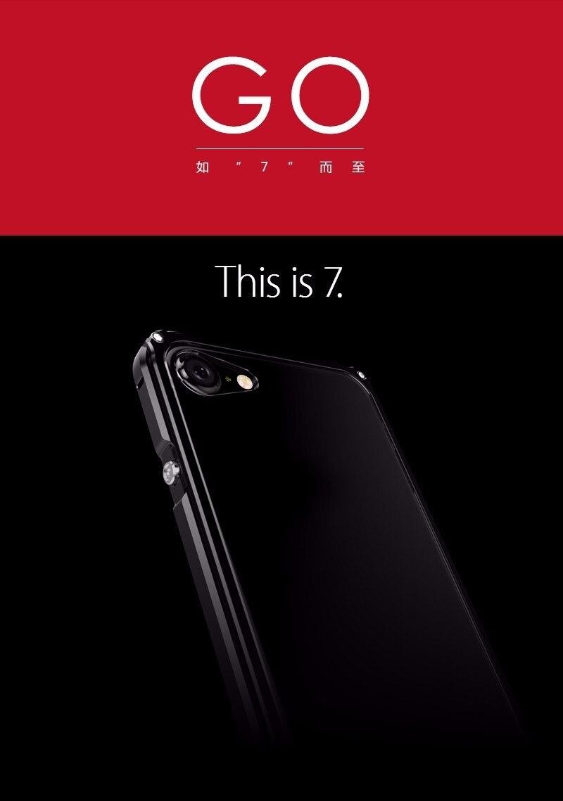 bilder für Aluminiumstoßdämpfer Für IPhone 7 Fall Abdeckung Mit Transparent Back Cover Aluminium Rahmen Metallstoßtelefonkasten