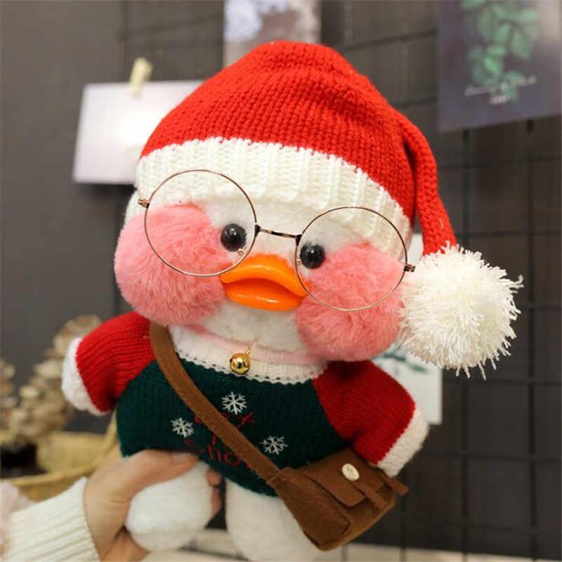30 センチメートル漫画かわいい lalafanfan カフェアヒルぬいぐるみぬいぐるみかわいいぬいぐるみアヒル人形、動物の枕の誕生日プレゼント子供