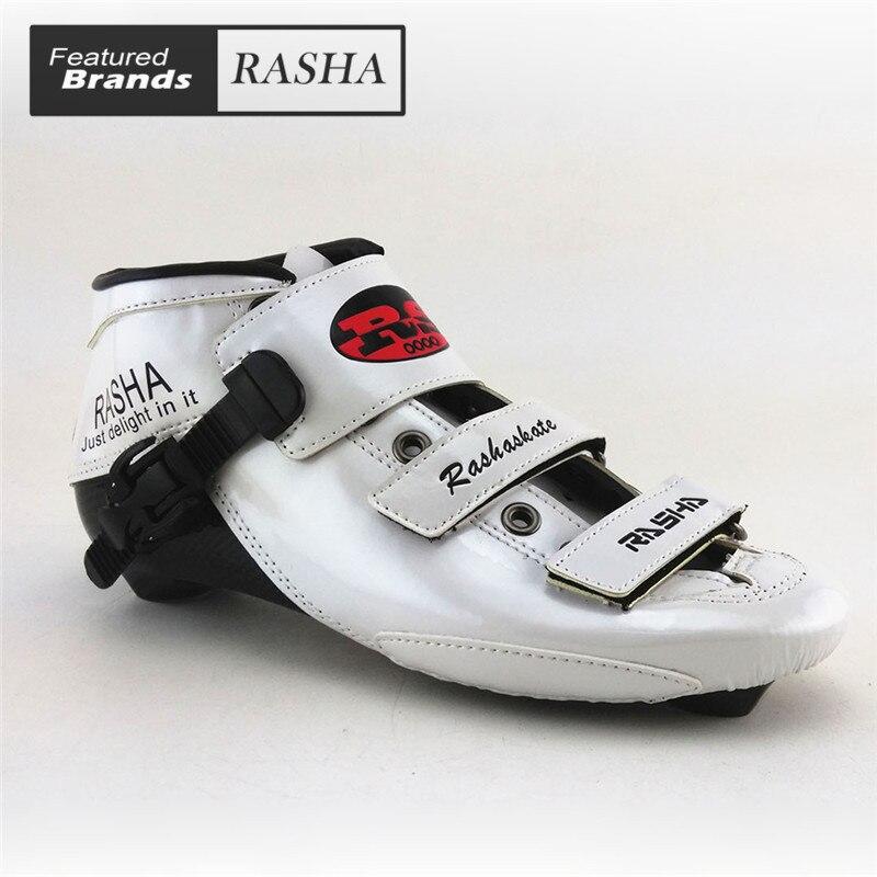 Prix pour Blanc Couleur inline chaussures de patinage de vitesse Professionnel enfant adulte vitesse patins boot du Carbone faite sur mesure hommes/femmes patins quad