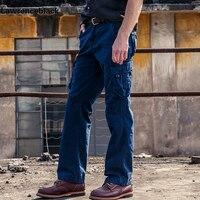 Herren Military Cargo Pants Multi-tasche Stil Männer Hosen Taktischen Beiläufige Lange Hose Männlich Plus Größe Blau Marke jogginghose 680