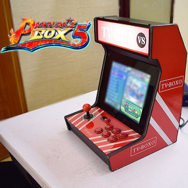 "12 "" Display Arcade Game console Table Top Game Cabinet 2222 in 1 Pandora's Box 9D 4: 3 Perfect Arcade Screen Ratio Bartop"