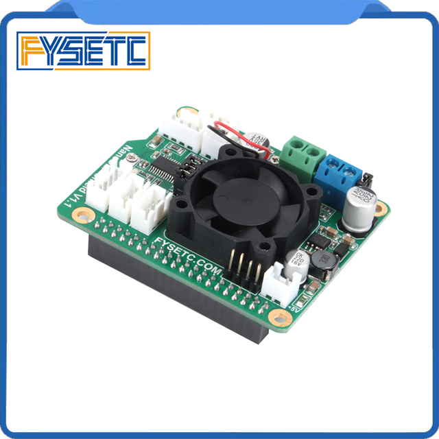 NanoDLP Shield V1.1 Expansion Board With DRV8825 Controled MOS For Raspberry Pi 3B And NanoDLP's Light-cured 3D Printers
