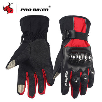PRO-BIKER Motorcycle Gloves Windproof Waterproof Moto Gloves Men Motorcross Gloves Snowboard Skiing Gloves Luvas Da Motocicleta