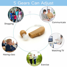 New Rechargeable Ear Noise Reduction Hearing Aid Mini Device Ear Amplifier Digital Hearing Aids Behind The