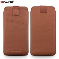 For Xiaomi Mi 5s Pouches Bags QIALINO Genuine Leather Pouch Accessory For Xiaomi Mi 5S 5S