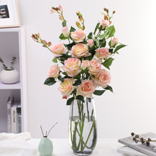 3 head 5 branch/bouquet roses artificial flowers ours en rose silk flower red fiori eternelle decoration anniversaire H0014 цены онлайн