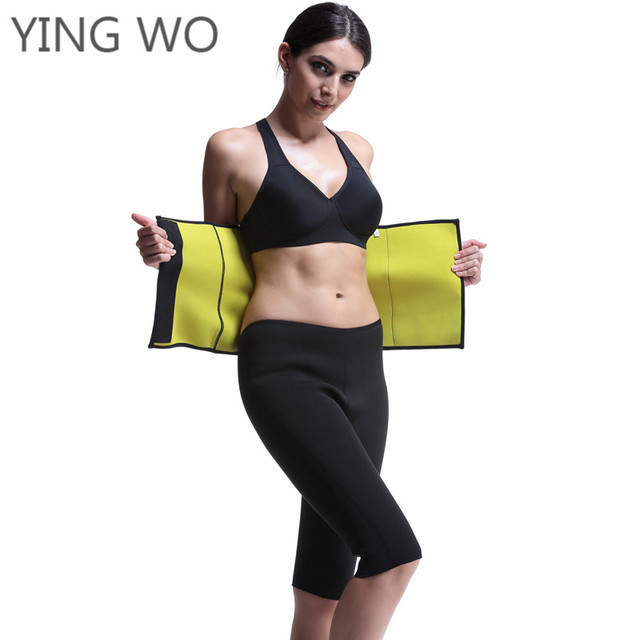 ed3e624dd4 Black Neoprene Thermal Waist Cincher Belt Hot Shaper Waist Trainer Belt Postpartum  Tummy Trimmer Shaper Slimming Waist Shaper