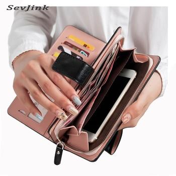 Offres spéciales femmes portefeuilles Zipper dollar prix en cuir portefeuille hommes/femmes sac à main/embrayage carteira feminina sacs à main porte-carte