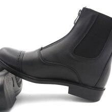 Aoud саддли Верховая езда сапоги и ботинки для девочек зимние уплотненный теплый Конный Сапоги полный кожа высокое качество обувь на молни
