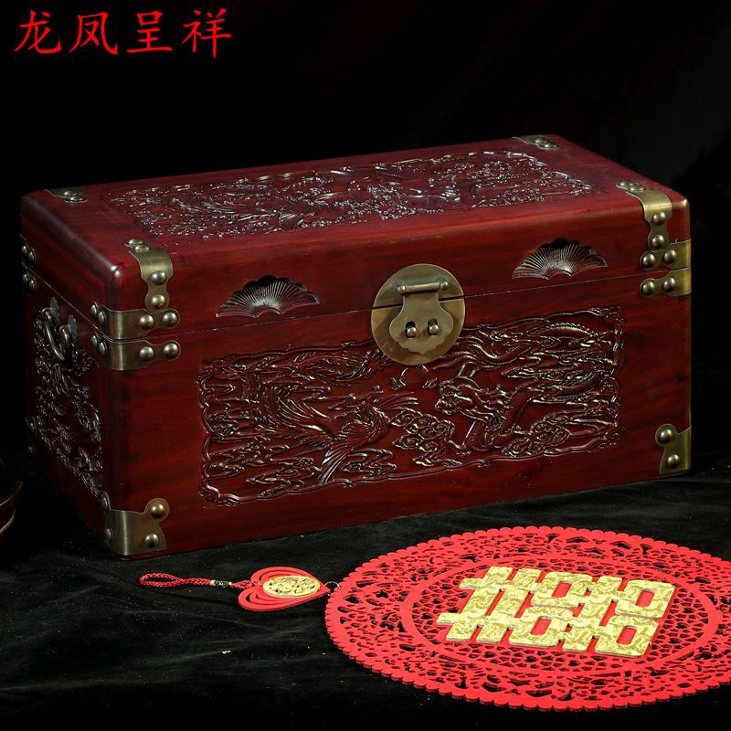 Camphor wood box wood storage trunk antique carved furniture storage box box and marriage marriage antique carved wood star wars game of thrones music box hand crank theme music welcome to sell friends cooperation