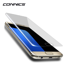 CONNICS S8 Tempered Glass For Samsung Galaxy S6 S7 / Edge Screen film 9H 2.5D Screen Protector Anti-Fingerprint Note 3 4 5 S4 S5