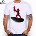 Hepeep + 2017 súper diseño fresco de los hombres de manga corta el spider king y Deadpool impresión de La Camiseta hombres camiseta inusual tops divertidos