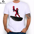 Hepeep+2017 super cool design men's short sleeve the spider king and Deadpool print T-shirt male Tee shirt unusual funny tops