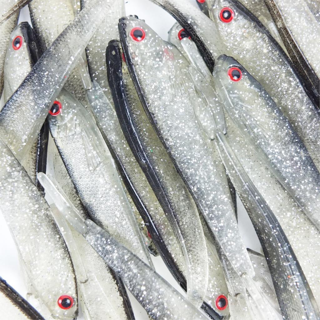 New Arrival Hot Sale 150pcs/Set 7cm 2.3g/10cm 3.6g /12.5cm 8g Soft Silicone Tiddler Bait Fluke Fish Fishing Saltwater Fish Lure 9 5cm soft silicone fish lure fishing tiddler bait fishing saltwater