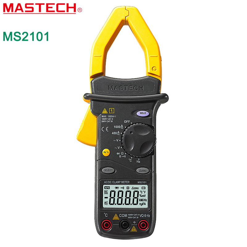 Multimeter MASTECH MS2101  Digital Clamp Meter AC/DC 1000A DMM Hz/C clamp meter measured capacitance frequency temperature