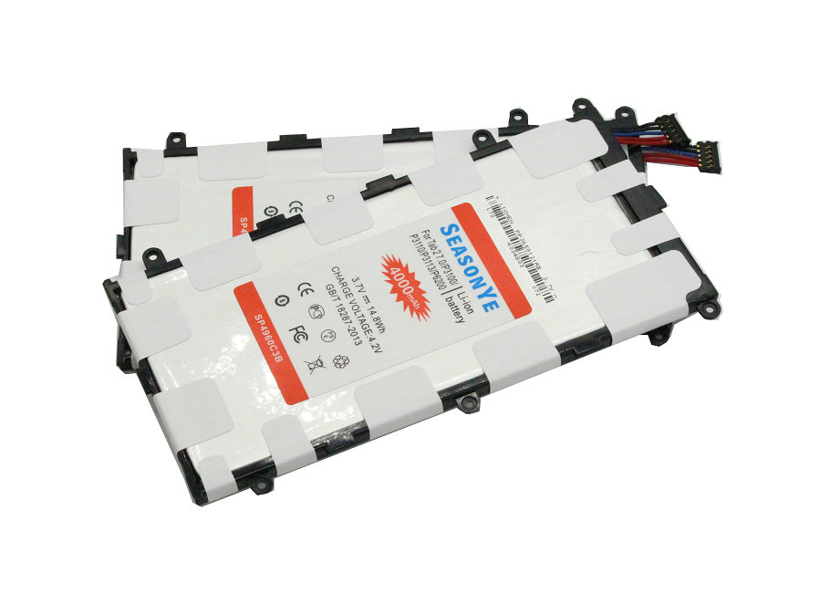 imágenes para SP4960C3B Seasonye 2 unids/lote 4000 mAh Batería de Repuesto Para Samsung Galaxy Tab Tablet 2 7.0 GT-P3110 P3100 P3110 P3113 P6200