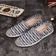 Fashion Sneakers Men Canvas Shoes Espadrilles Men Casual Shoes Slip on Breathable Loafers Men Flats Shoe Zapatos Hombre стоимость