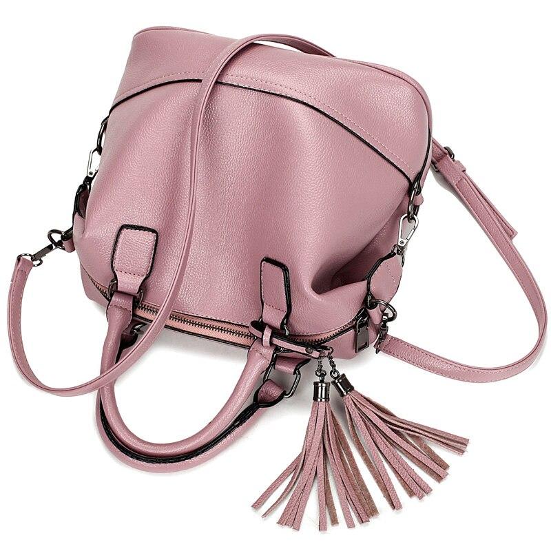couro bolsas de marcas famosas Women Messenger Bag Color : Tassel Bag Pink/lake Blue/black/red