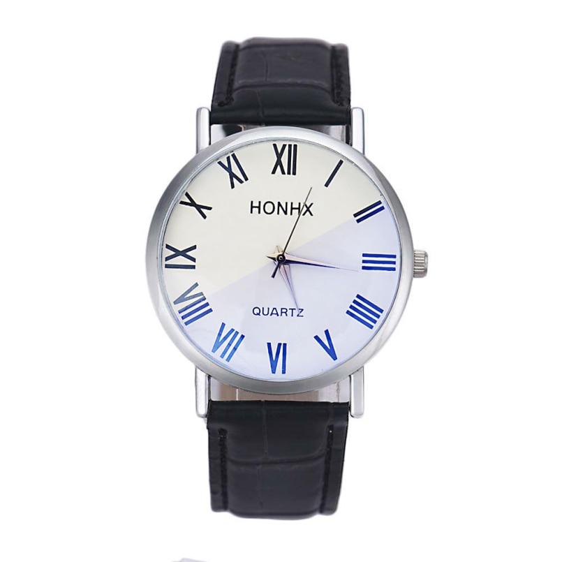 Excellent Quality Top Luxury Vintage Business Watch Mens Fashion Sport Quartz Clock Leather Strap Wristwatch Relogio Masculino