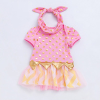 Polka Dot Summer Baby Dresses 2017 New Fashion Tulle Toddler Girls Dress Romper Lace Tutu Light
