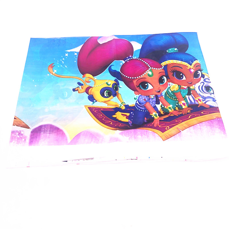 108 180cm Shimmer Shine Theme Tablecloths Baby Shower Party Supplies