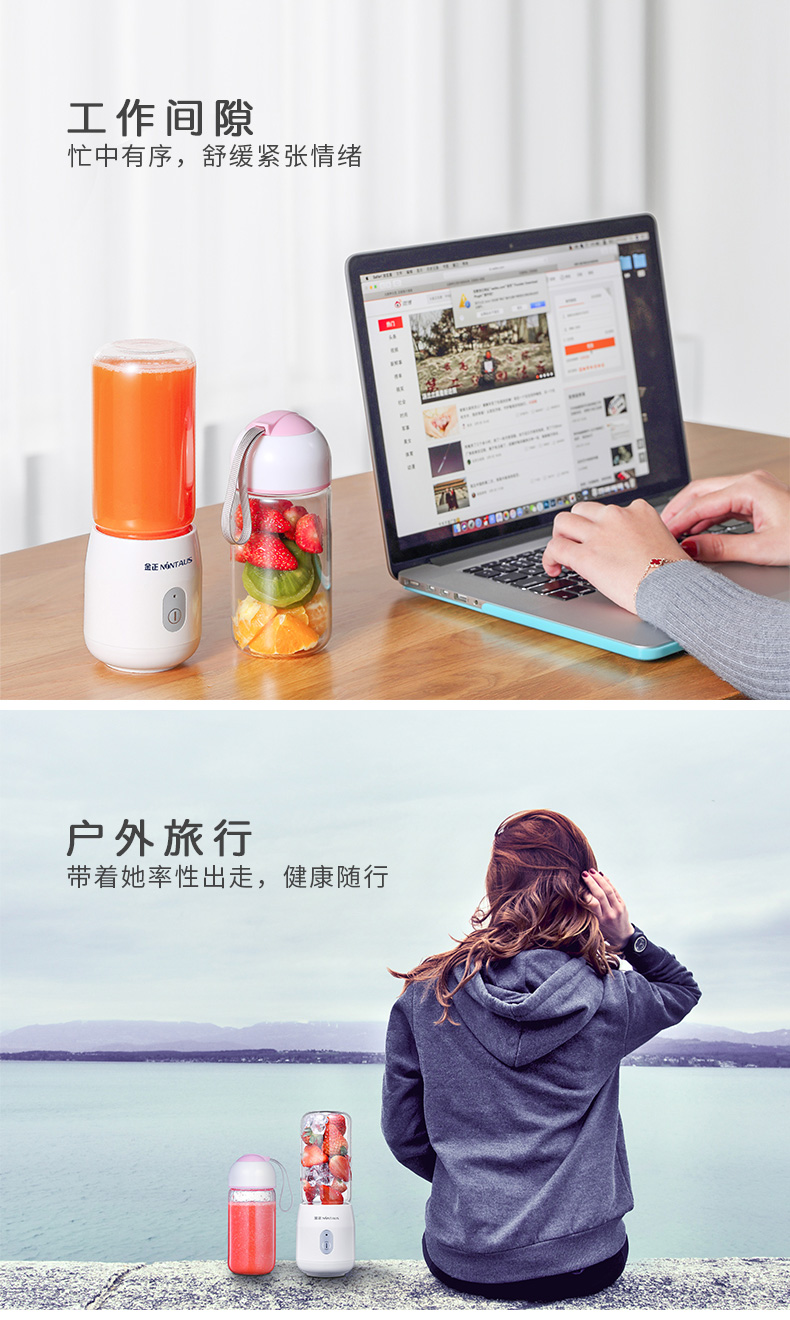 Juicer   Automatic  Portable USB Rechargeable Mini Juicer Machine Fruit Juicer Students Small Electric  Juice Cup 7