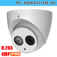 Newest Poe DH IP Camera IPC HDW4431EM AS 4MP IR Eyeball Network Camera Built in Mic