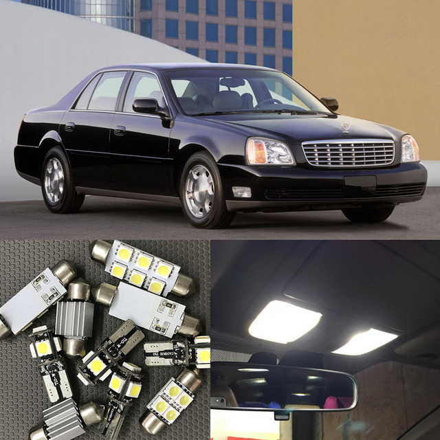 16x Auto Interior Led Lights Bulb Kit For 2000 2001 2002 2003 2004 2005 Cadillac Deville Map Dome Trunk License Plate Lamp