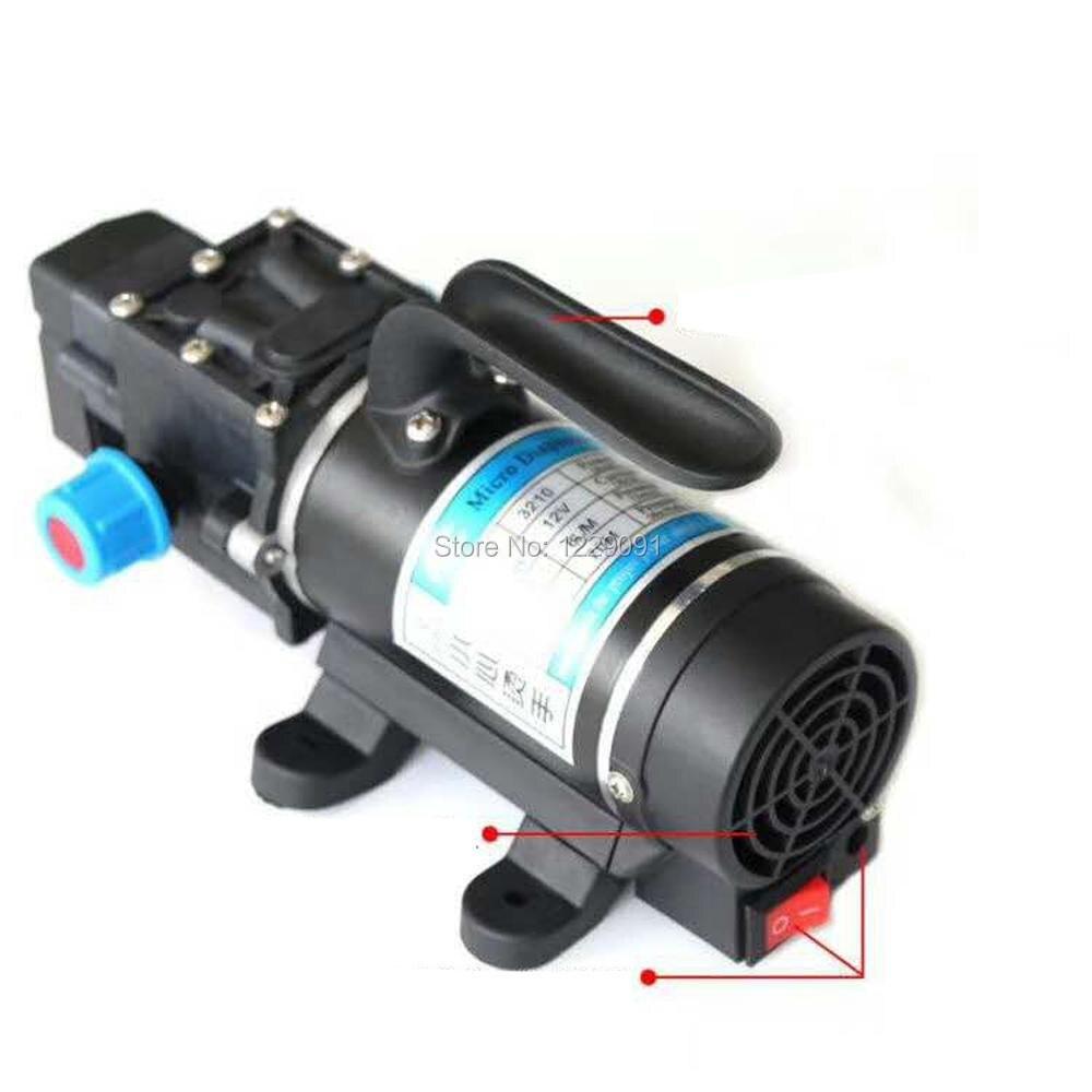 automatic pressure switch low voltage 12v electric high pressure mini dc self priming water booster pump 100w 8L/min 160psi 8l min dc 100w water diaphragm pump 24v