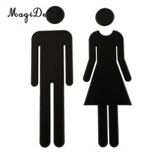 3D Self Adhesive Male And Female Ladies Gents Acrylic Toilet Sign Bathroom Restroom Lavatory Door