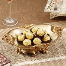 Fashion ceramic resin home fruit plate decoration wedding gift rustic bowl