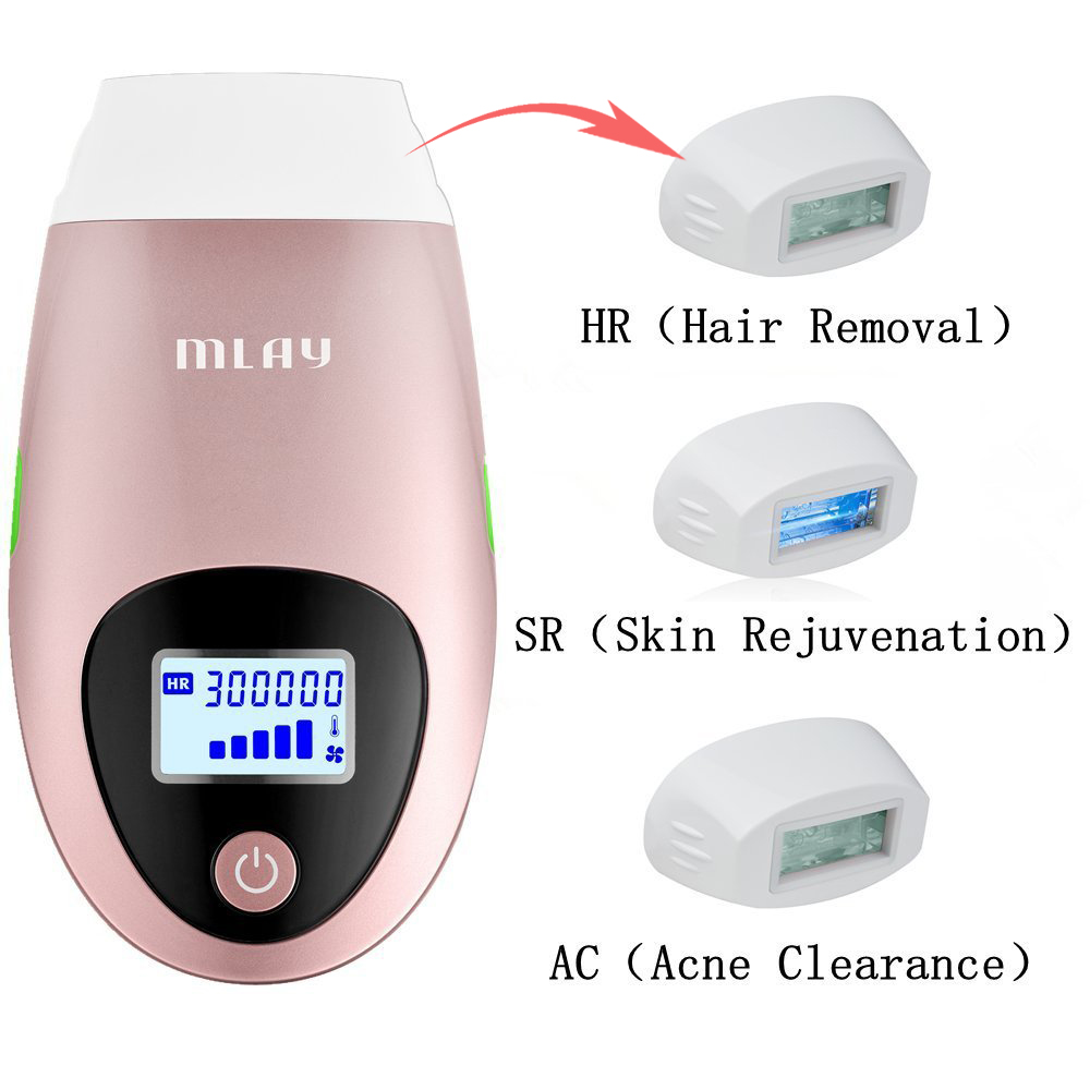 Electric IPL Laser Epilator Permanent Painless Hair Removal Skin Rejuvenation Acne Clearance for Face Body Whit