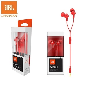 Image 5 - JBL c100si베이스 스테레오 이어폰, 안드로이드 IOS 핸드폰 용 이어폰, 록 지르콘 Audifonos with Mic