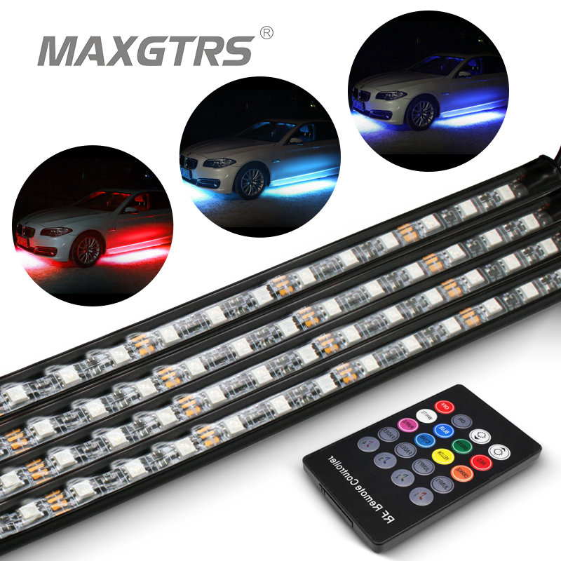 Car Headlight Bulbs(led) Buy Cheap 4x Waterproof Rgb Smd Flexible Led Strip Under Car Tube Underglow Underbody System Neon Light Kit With Remote Control Dc12v