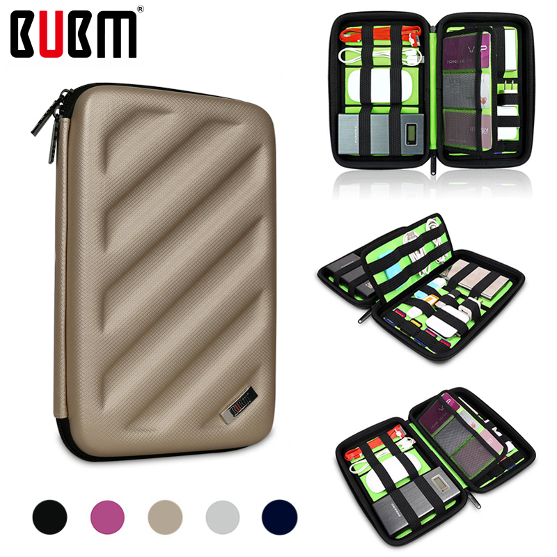 BUBM bag for Portable Travel Organizer digital receiving bag for card SD membory card hard case bag for digital accessories